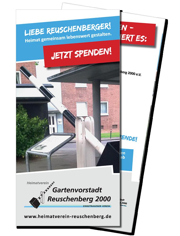 Spendenflyer des Heimatvereins als PDF-Dokument zum herunterladen