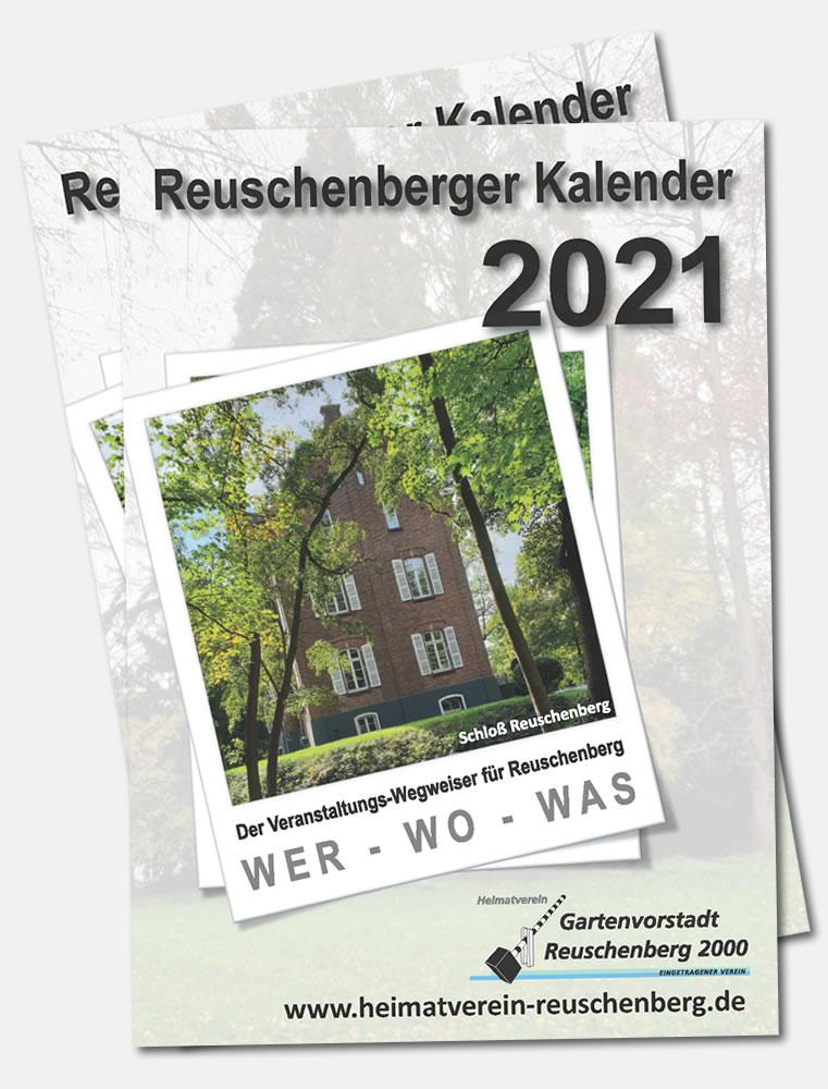 Titelseite vom Kalender des Heimatverein für 2021